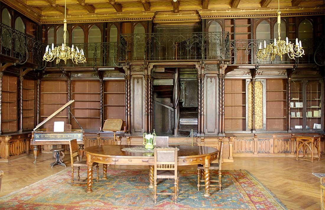 Nádasdy kastély - könyvtárterem