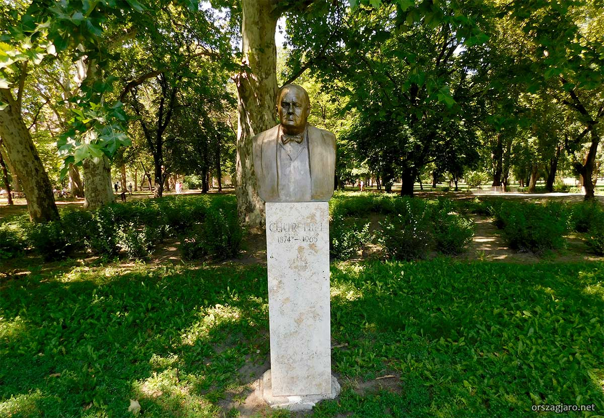 Winston Churchill szobor - Városliget